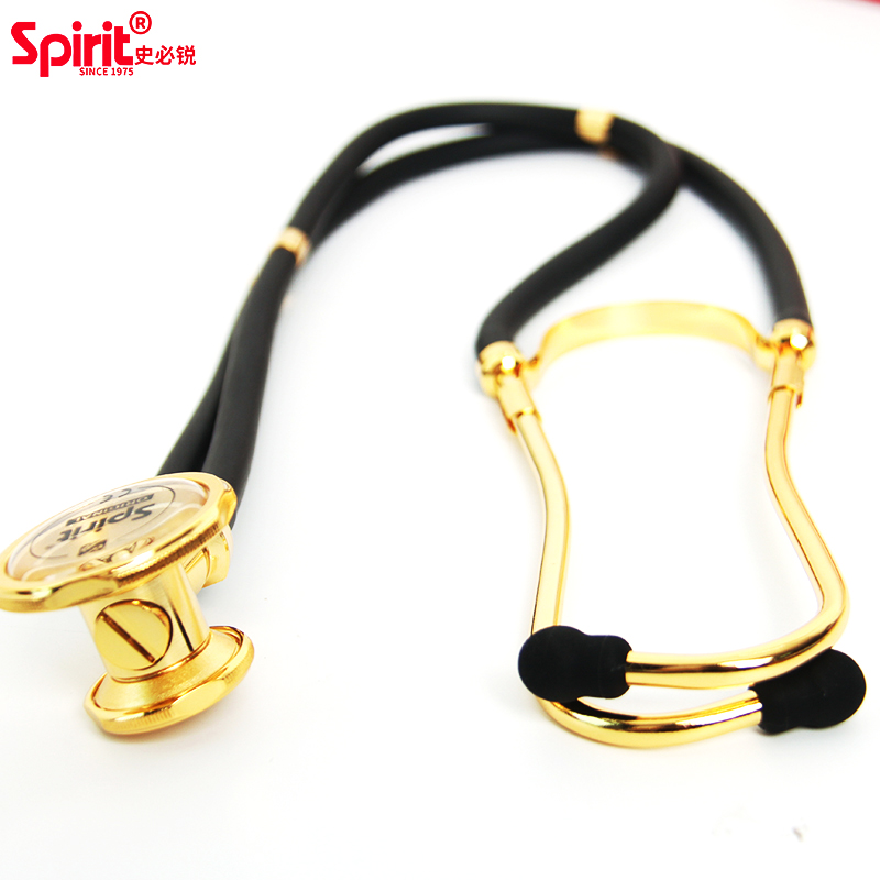 Spirit cardiology double-tube multi-function dual head professional stethoscope angle alloy listen fetal heart medical devices