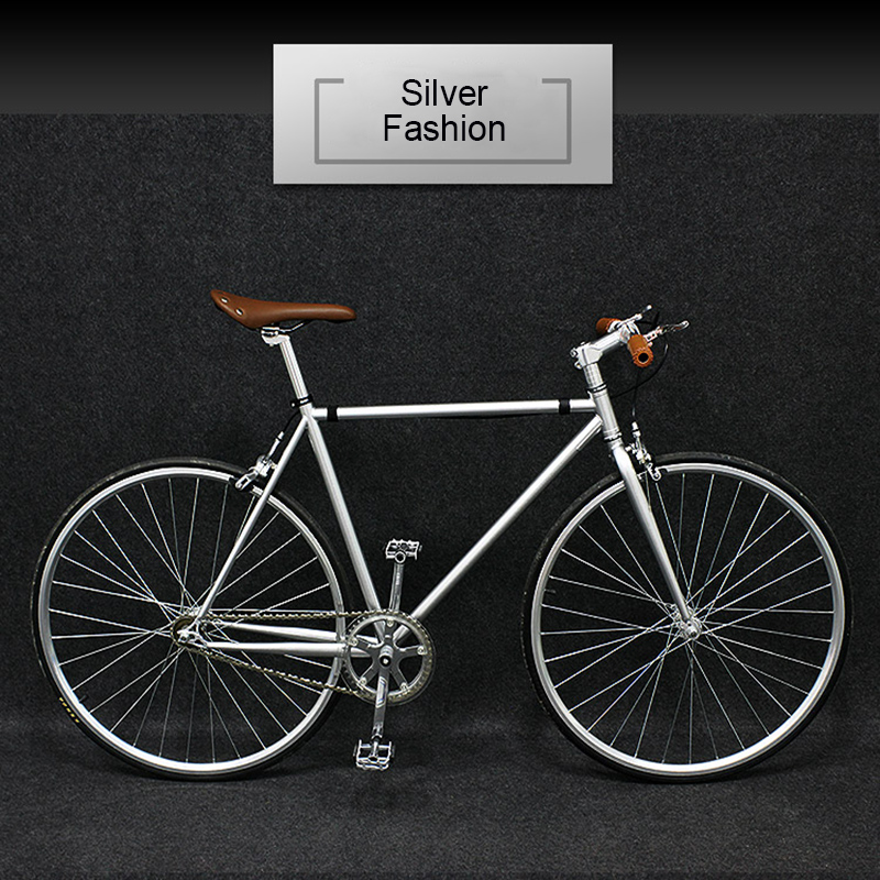 700c Road Bicycle Double Disc Brake Single Speed 7 Speed Men And Women Retro Fashion High End