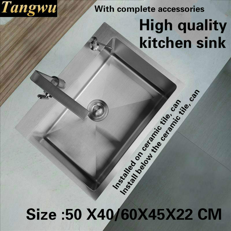 Tangwu More High Grade Kitchen Sink Food Grade 304 Stainless Steel 4