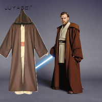 Halloween Star Wars Cosplay Jedi Warrior Oubi Wang Full Set Clothes Pants Cloak Make Up Dance