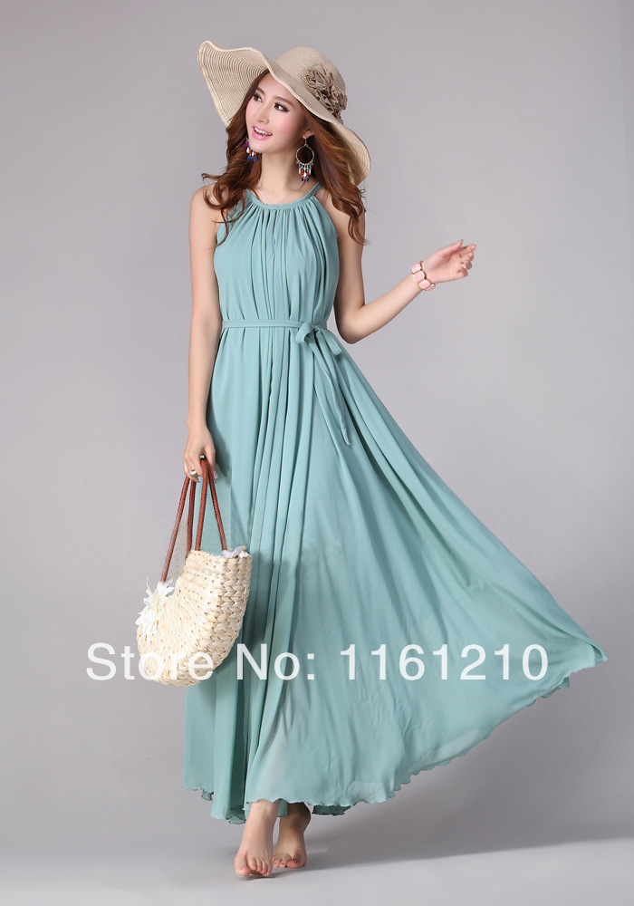 Summer Holiday Beach Wedding Party Guest Sundress Long Maxi Dresses