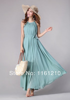 Blue Summer Holiday Beach Dress Beach Wedding Party Guest Sundress Plus Size Bridesmaid Dresses Long Prom