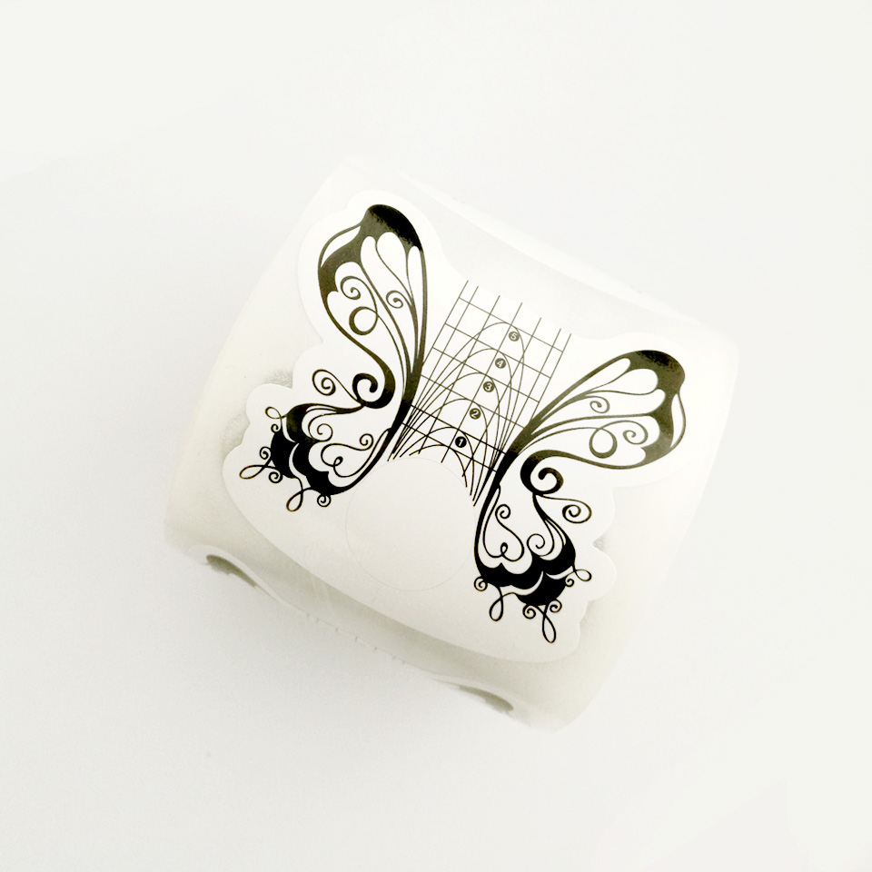 100 STÜCKE Schmetterling Nägel Formen für Gel Nail art Form Papier ...