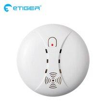 ETiger gorąca sprzedaży bezprzewodowa czujka dymu czujnik przeciwpożarowy ES D5A dla systemu alarmowego Etiger S4/S3B Panel