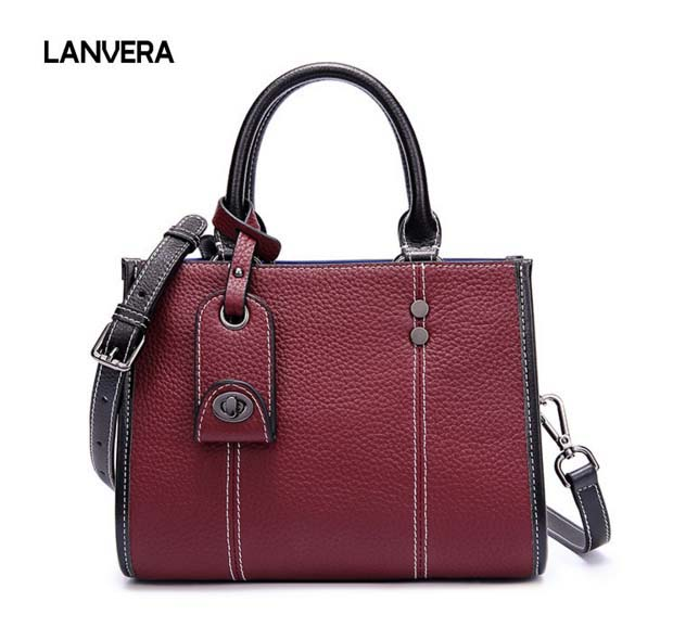 2018 new first layer leather middle-aged woman handbag Fashion woman messenger bag Genuine leather woman bag free shipping