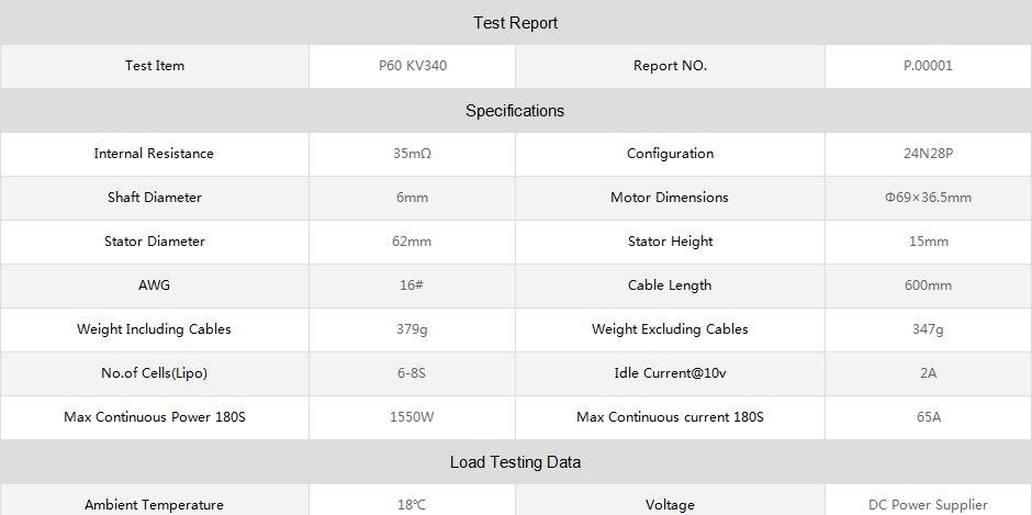 Produtos Mais Recentes P60 340KV T-MOTOR de