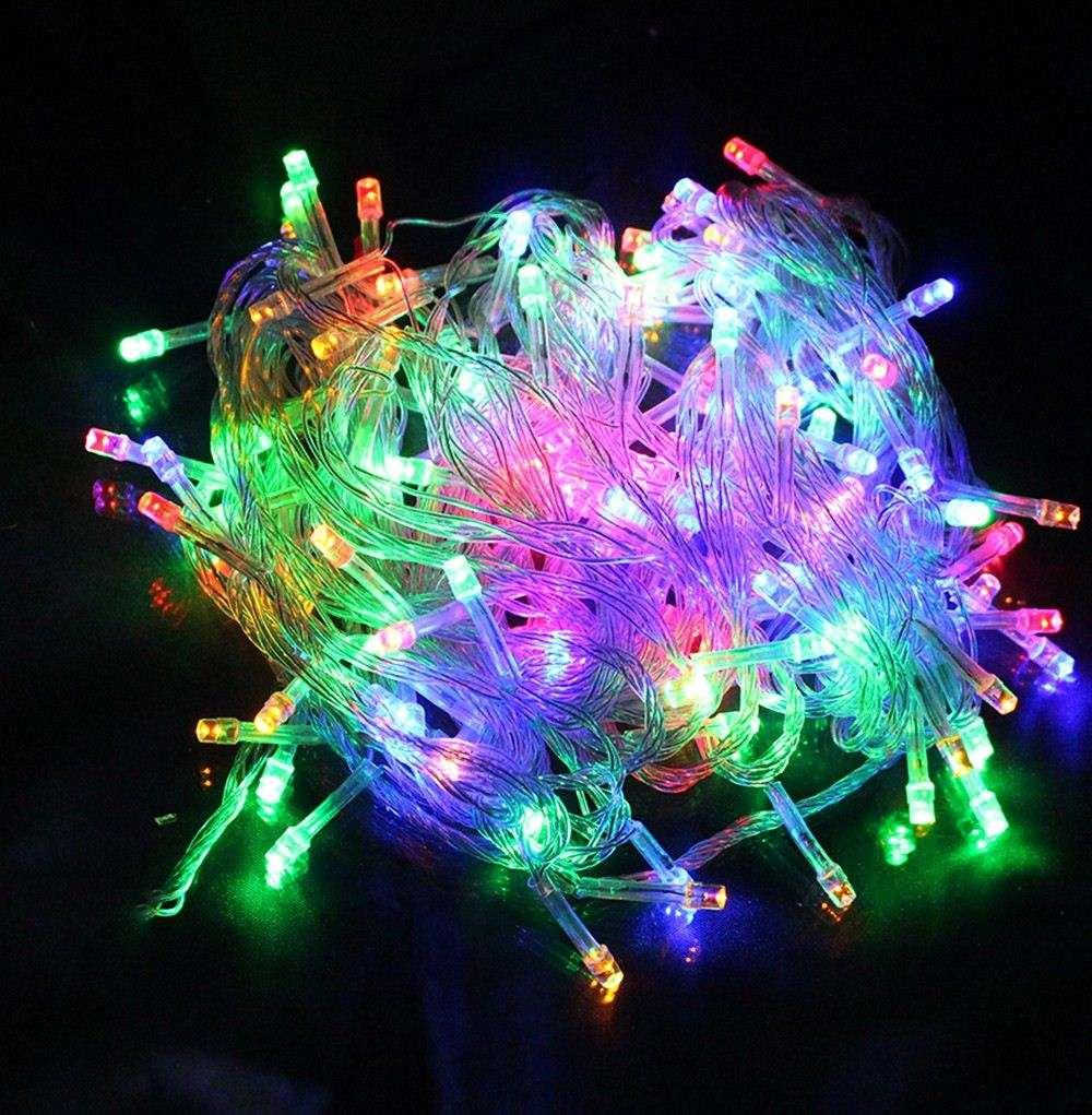 Led Outdoor Party String Lights: 10M 100 Bright LED Lights String Indoor Outdoor LED Party