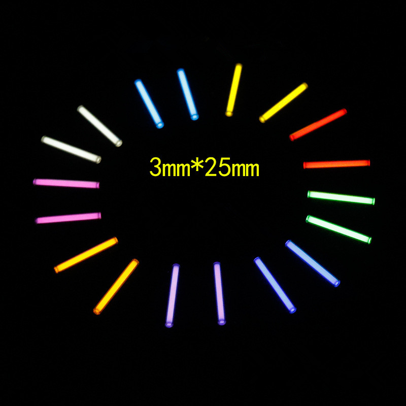 3*25mm DIY Accessories Tritium Gas Tube Self Luminous 25 Years Of High-tech Products EDC Multi-color Selection Glass Tube