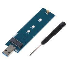 M.2 USB adaptörü B anahtar M.2 SSD adaptörü USB 3.0 ila 2280 M2 NGFF SSD sürücü adaptörü dönüştürücü SSD okuyucu kartı