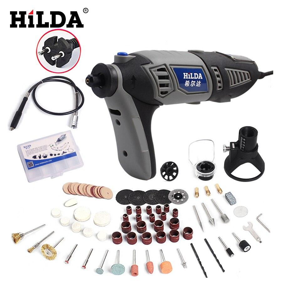 HILDA 220 v 180 watt Dremel Stil Dreh Werkzeug Für Dremel Zubehör Elektrische Mini Bohrer für Power Werkzeuge EU Stecker variable Geschwindigkeit