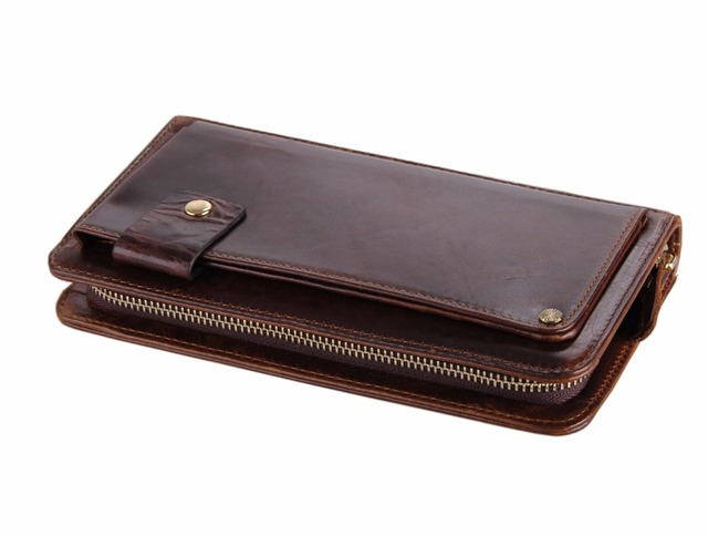 Luxury Designer Clutch Bag Business Casual Genuine Leather Wallet For Men Practical Card Holder Hand-held Bag Fashion Zip Purse