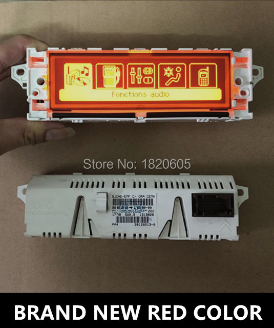 Original Screen Monitor Support USB Dual zone Air Bluetooth 12 pin Red For Peugeot 407 408