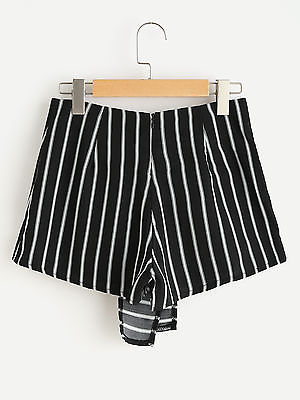 Women Hot Summer Casual Shorts High Waist Beach Striped Shorts Fashion