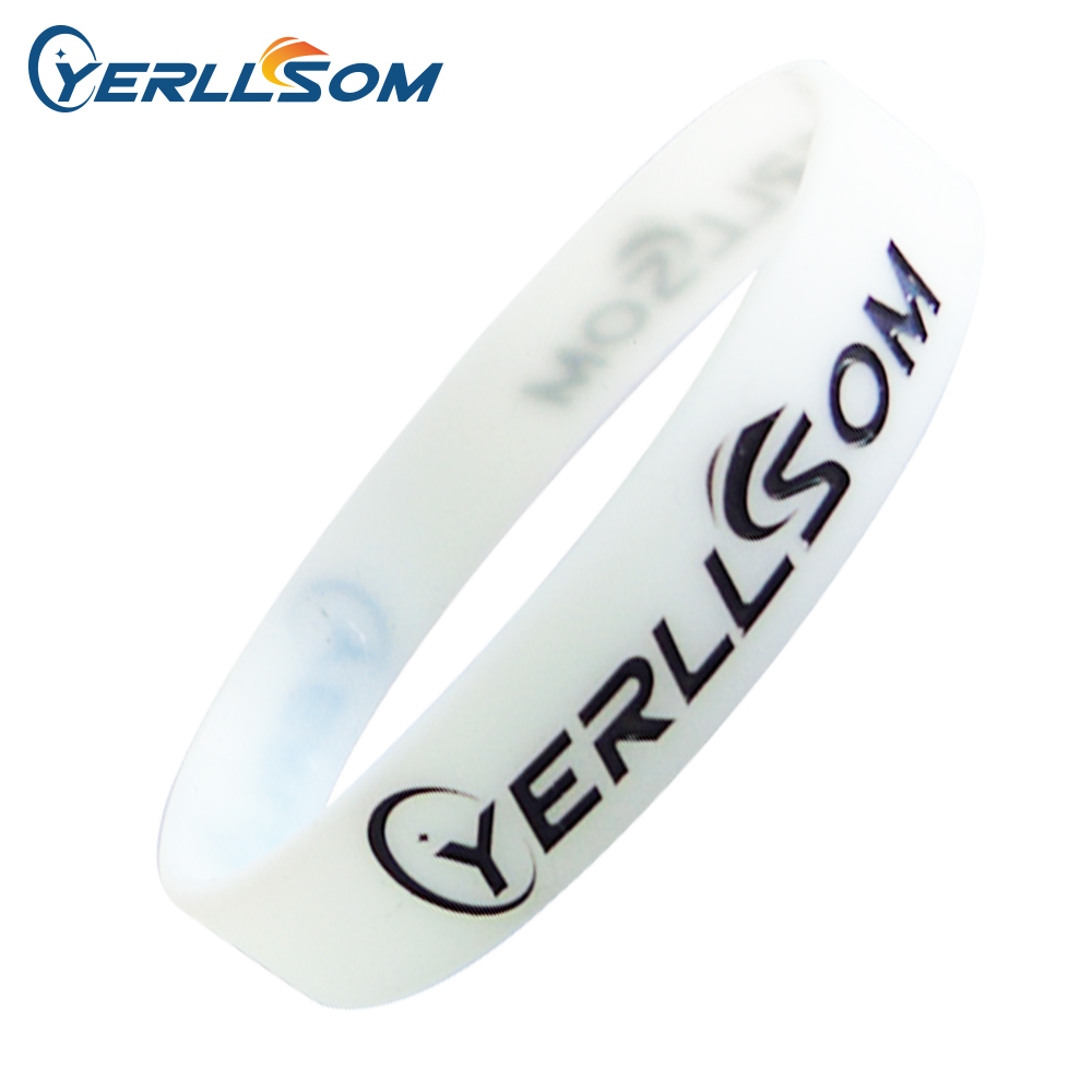 500pcs Lot High Quality Custom Personalized Rubber Silicone Wristband For Promotional Gifts P051609
