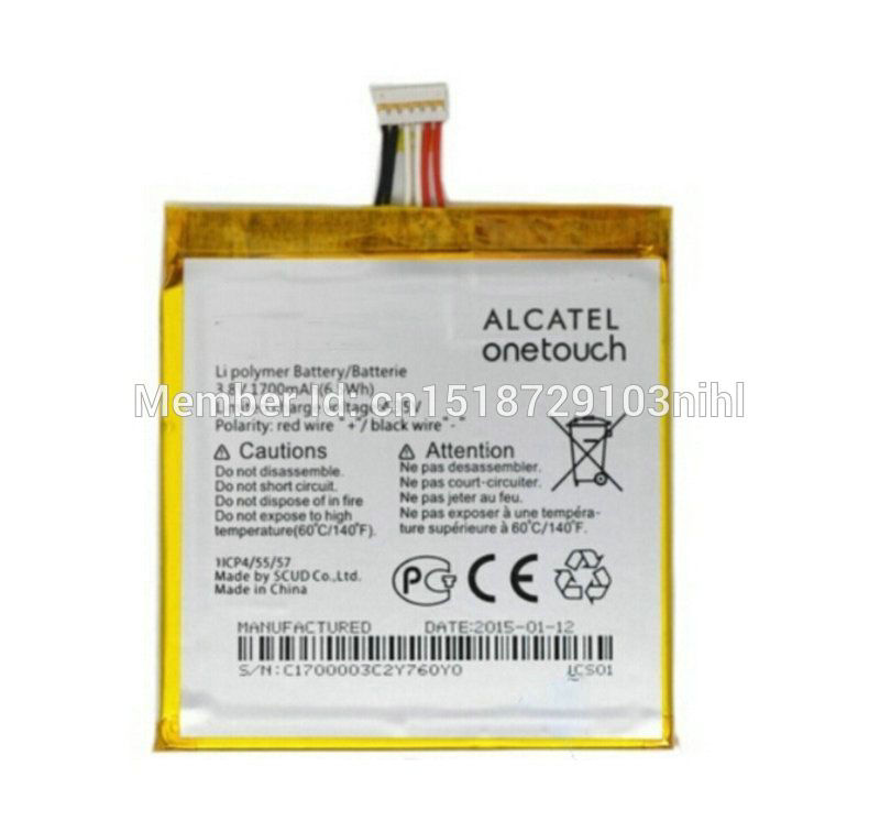 1pcs 100% High Quality 1700mAh Battery For Alcatel one touch Idol 2 Mini L 6014d/x phone