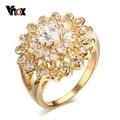 Vnox Кольцо для Женщин/Девушки Обручальное Австрийский хрусталь Позолоченные