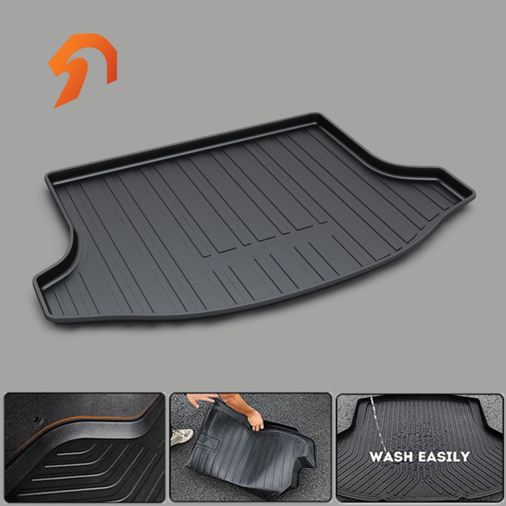 FIT FOR KIA SPORTAGE R 2011-2017 BOOT LINER REAR TRUNK CARGO MAT FLOOR TRAY CARPET MUD COVER PROTECTOR 3D car-styling 3d car styling custom fit car trunk mat all weather tray carpet cargo liner for honda odyssey 2015 2016 rear area waterproof