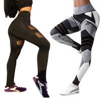 Yoga Pants Women For Fitness Gym Leggings High Waist Running Tights Female Letters Striped Jogging Gym Wear Workout Pants Sports