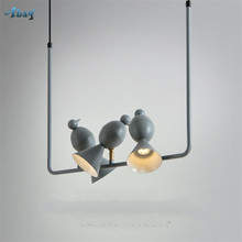 creative 3 bird pink Pendant Lights art deco Dining Room light Clothing Shop Magpie Hanging Lamps children room bar led fixtures(China)