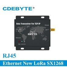 E90 DTU (400SL30 ETH) RJ45 Ethernet חדש לורה SX1268 30dBm 1W 433MHz TCP UDP יציאה טורית אלחוטי משדר מודם
