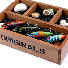 2019 New Wave Stomach Water Surface System Artificial Bait 6.5cm/10.9g Plastic Hard Assorted Colors Minnow Crank