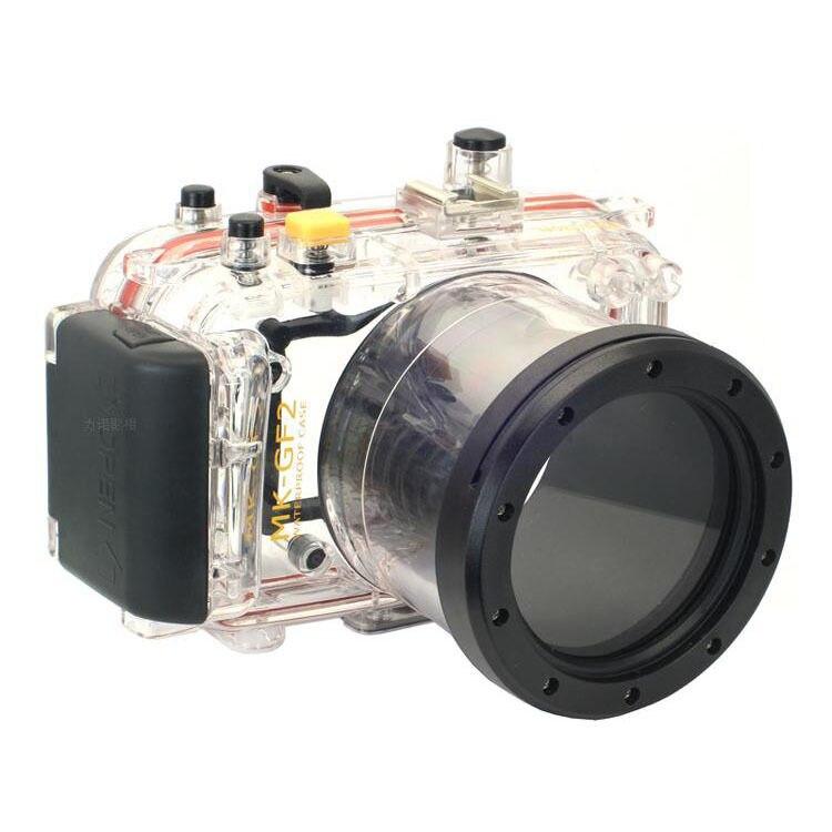 Meikon 40M/130ft Camera Waterproof Underwater housing For Panasonic GF2 14 42MM Camera