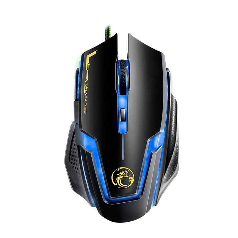 High Performance USB Wired Gaming Mouse Portable LED Optical Gamer Mouse 3200DPI Adjustable Comupter Cable Mice For PC Laptop