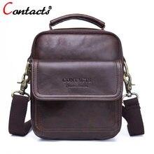 a34ae7e5e756 Contact's маленькая дорожная кожаная сумка мужская сумка через плечо мешок  сумка мужская натуральная кожа кожаные сумки