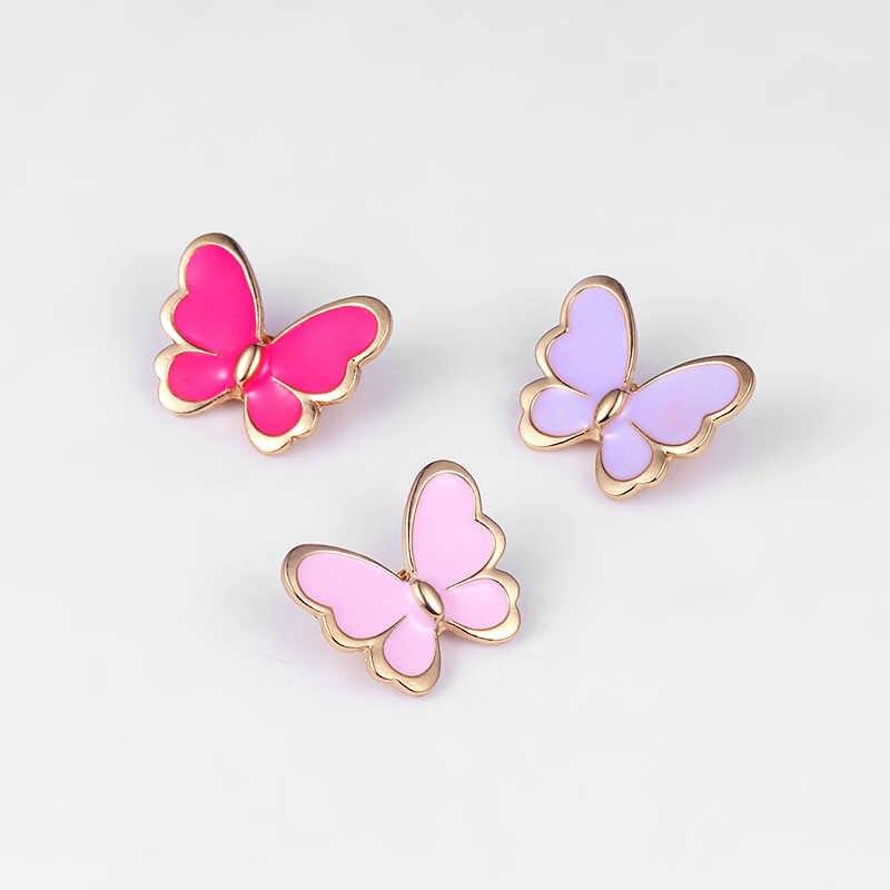 """Baiduqiandu Baru Kedatangan Enamel Kupu-kupu Emas Nada Bros Pin untuk Wanita Wanita Perhiasan Pernyataan Serangga Gaya Ibu """"Hari hadiah"""