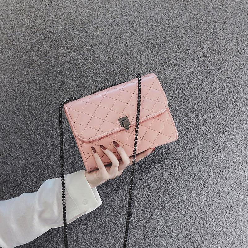 Modo Rosa oro 2019 Del M Bag Piccola Sacchetto Nuovo Il Borsa Di colore Nero Coreana Donne Rombico as757 Piazza Messenger Spalla argento Versione Delle OqIRBxqw