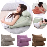 Lounger Bed Rest Back Pillow Support TV Reading Back Rest Seat Soft Sofa Office Chair Living Room Cushion Home Decor BTM