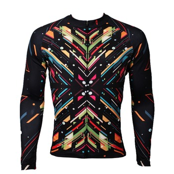 ILPALADINO Men's Colorful Long Sleeve Bicycle Superior Material Jersey Bicycle Shirt Bicycle Clothing Match Sportswear