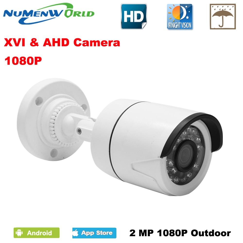 CCTV XVI/AHD 2.0MP 1080 p HD cámara de seguridad con IR-CUT 24 LEDs IR visión nocturna cámara analógica para uso en el hogar de interior/al aire libre