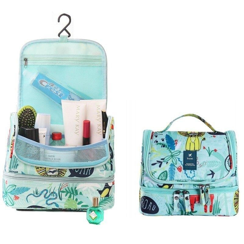 New Travel Organizer Women Cosmetic Bag Flamingo Large Travel Organizer High Capacity Waterproof Hang Toiletry Storage Handbag