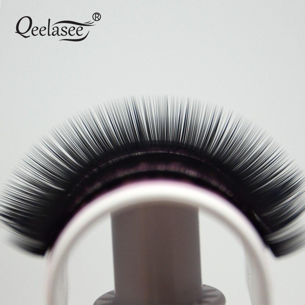 Image 5 - Qeelasee 4 cases 0.07 3D volume mink individual eyelash extension faux cils make up eyelashes maquiagem cilios Korea materialFalse Eyelashes   -