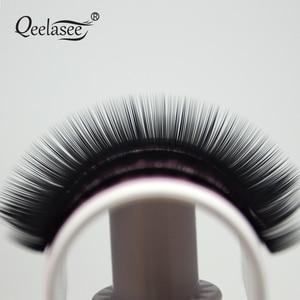 Image 5 - Qeelasee 4 gevallen 0.07 3D volume mink individuele wimper extension faux cils make up wimpers maquiagem cilios Korea materiaal