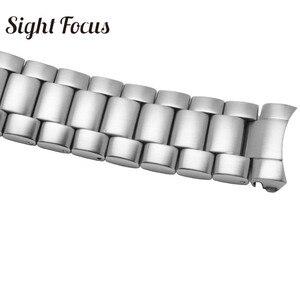 Image 3 - 20 มม.22 มม.สแตนเลสสำหรับนาฬิกา Omega Seamaster 300 231 นาฬิกาสายคล้องคอสร้อยข้อมือโลหะพับ Clasp เงิน 007