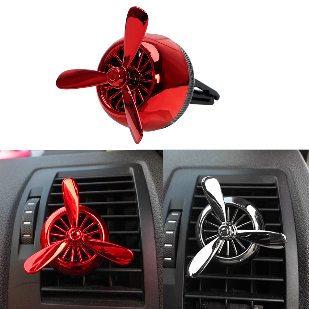 Car Perfumes Solid Fragrance Smell Air Force 3 Car Styling Propeller Aromatic Car Air Freshener Outlet Vent Clip Auto Ornament car ornament lovely lucky cat car outlet perfume clip 4 7cm little car decoration balm car air freshener 1pcs