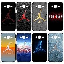 Tampa da moda jordan para samsung galaxy a3 a5 a7 j1 j5 j7 s3 s4 mini s4 s5 s5 mini caso de telefone s6 s6 borda preta de plástico