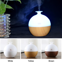 USB Wood Grain Aromatherapy Mist Maker Ultrasonic Humidifier 130ml Aroma Diffuser Essential Oil Diffuser with 7 Color LED Light usb ultrasonic humidifier 130ml aroma diffuser essential oil diffuser aromatherapy mist maker with 7 color led light