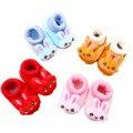 Niños bebés recién nacidos algodón hizo punto los zapatos del pesebre Casual Animal zapatos lindos del nuevo