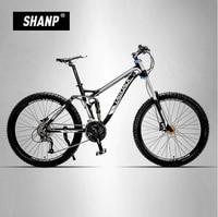 LAUXJACK Bicycle Aluminum Alloy Soft Trailer 24 27 Quick Down Mountain Bike Double Oil Disc Shock