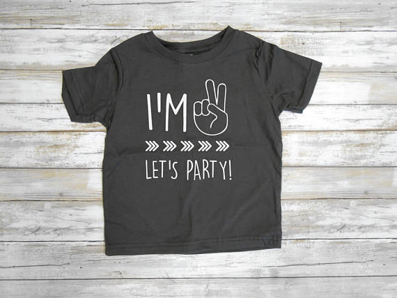 Detail Feedback Questions About Second Birthday Tshirt 2nd Boy Im Lets Party Tee D429 On Aliexpress