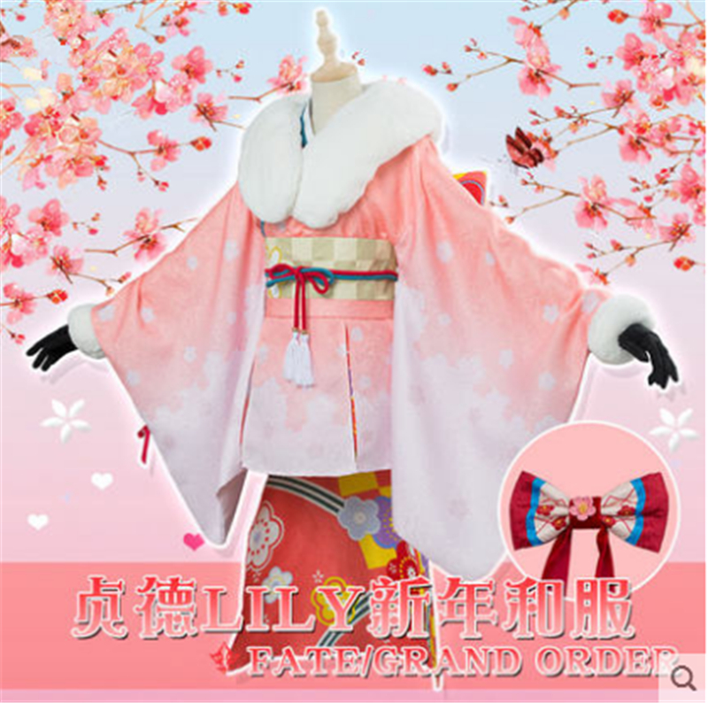 Alter Lily Fgo cosplay Fate Grand/Order Alter Santa Lily New Year cosplay costume kimono female Full Set 1