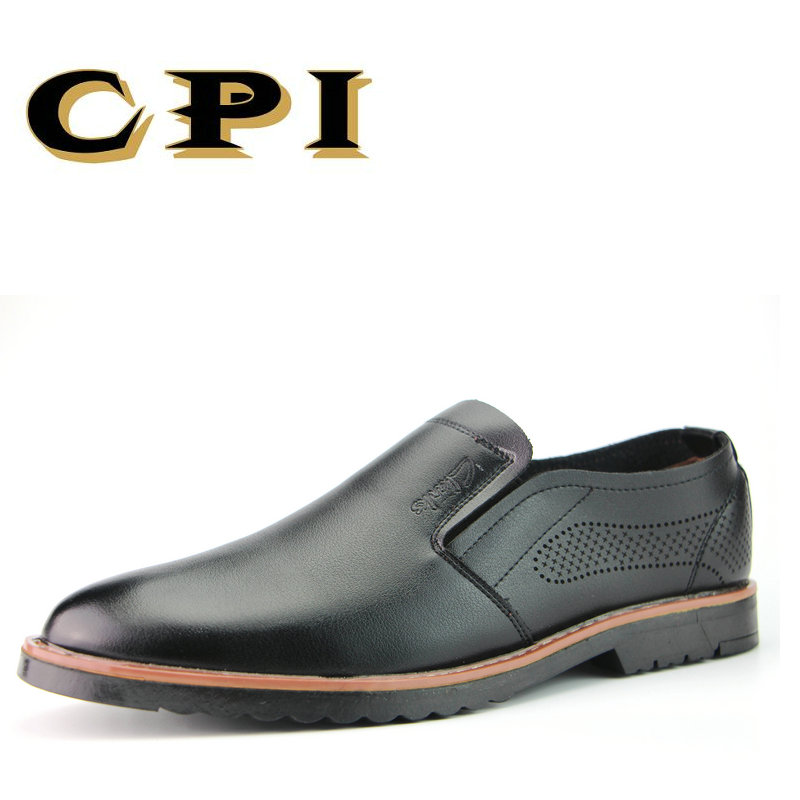 CPI 2017 New Men's casual leather shoes slip on Comfortable Breathable Driving shoes young Fashion soft Loafers   AA-925 branded men s penny loafes casual men s full grain leather emboss crocodile boat shoes slip on breathable moccasin driving shoes