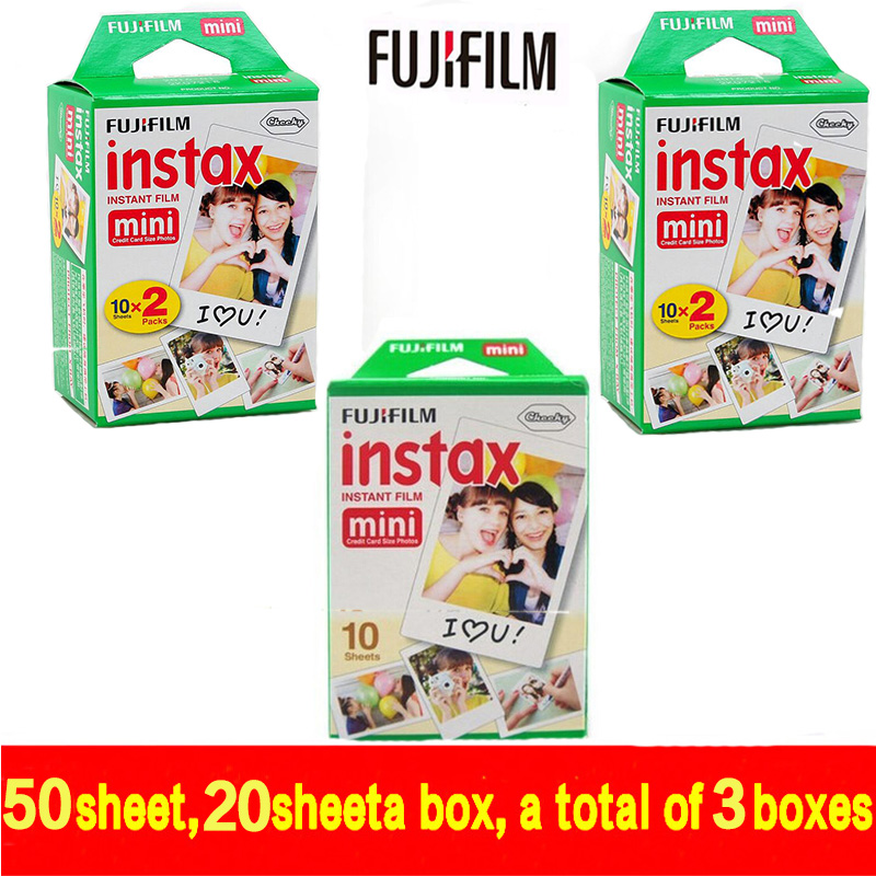 free shipping Genuine 50 Sheets White Fuji Instax Film Fujifilm Instax Mini 8 Film For 8