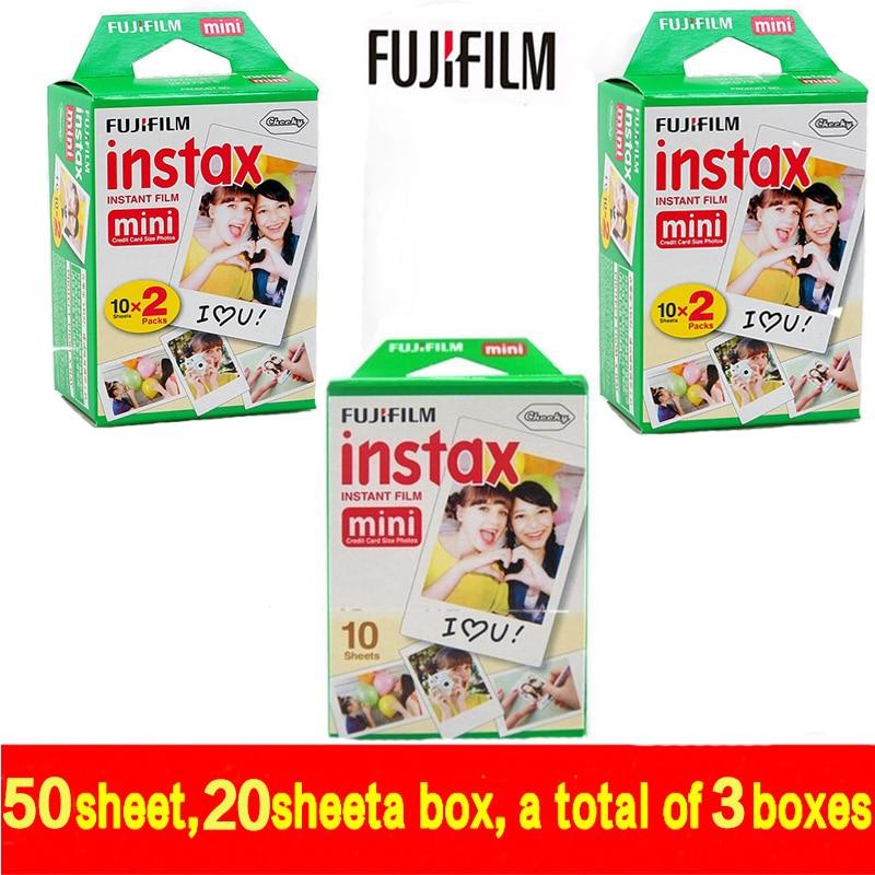 Galleria fotografica free shipping Genuine 50 Sheets White Fuji Instax Film Fujifilm Instax Mini 8 Film For 8 50s 7s 90 25 Share SP-1 Instant Cameras