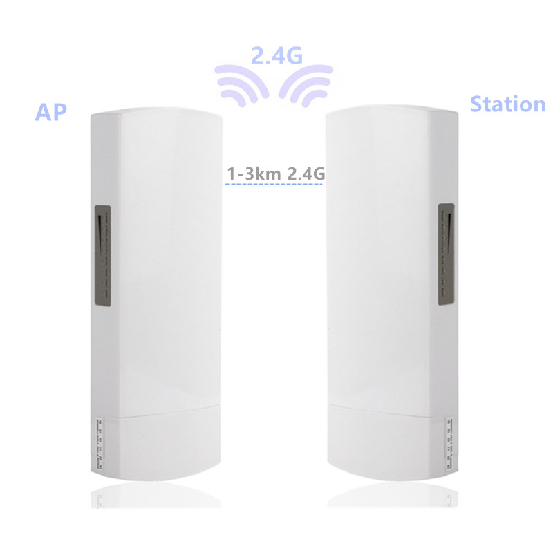 Router CPE 2 Pieces 1-3km 300 Mbit Open  2.4G Wireless Access Point Router Wi-Fi Bridge Device Wifi Extender Dual Band  Repeater