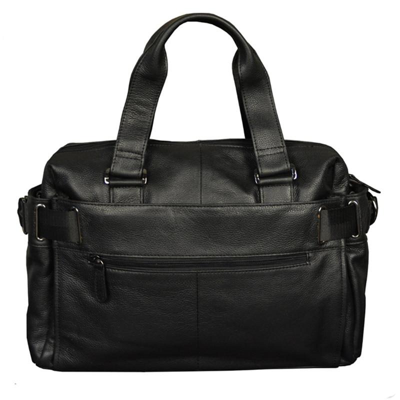 Top Grade Men Leather Handbag Business Briefcase Laptop Bag Shoulder Work Bags