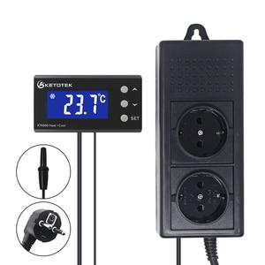 Термостат для аквариума EU/US штепсельная розетка с термодатчиком регулятор температуры для домашних животных регулятор термостата охлажде...